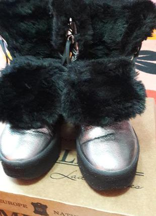 Женские ботинки зимние  натуральная кожа 39 размер 25см-стелька.