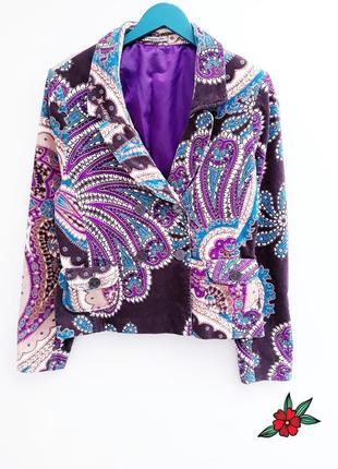 Ексклюзивный пиджак велюровый пиджак жакет бархатный блейзер б...