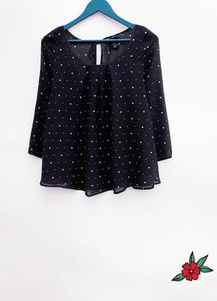 Женская блузка блуза в горох нарядная блузка в горох