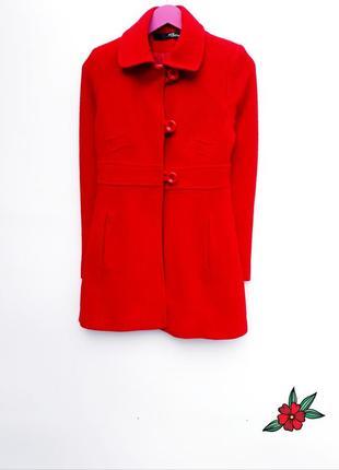 Шерстяное пальто демисезонное пальтишко маленький размер