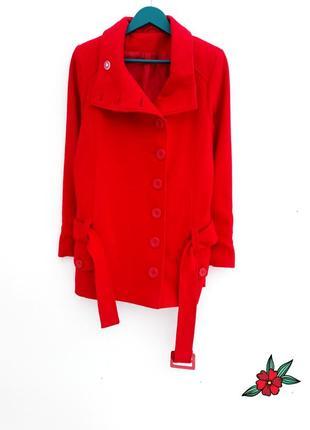 Шерстяное пальто демисезонное пальто красивое пальто