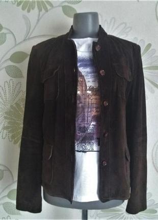 Куртка замшевая натуральная коричневая 46 р кожаная натуральная