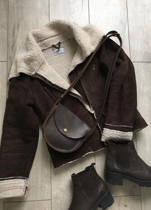 Куртка дубленка f&f