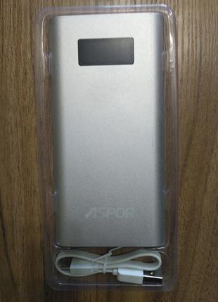 Powerbank Aspor 6-20.000 mAh Оригинал. 100% емкость 7 дней на про