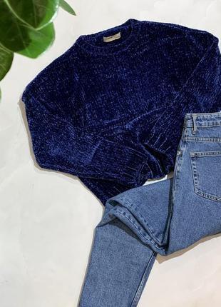 Велюровый свитер pull&bear