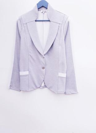 Меланжевый пиджак жакет блейзер с лампасами стильный блейзер