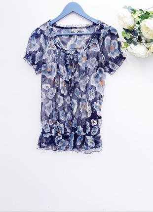 Красивая рубашка сетка прозрачная блуза блузка сеточка в цвето...