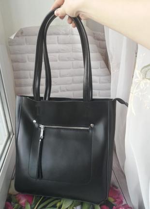 Кожаный женский шопер женская кожаная сумка шкіряна жіноча сумка