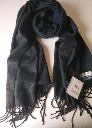 Изысканный темно-серый шарф, палантин acne studios, 100% овечь...