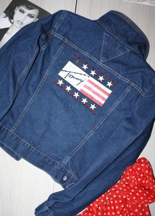 Стильная джинсовая куртка tommy hilfiger