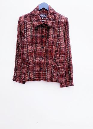 Стильный пиджак теплый жакет букле трендовый пиджак