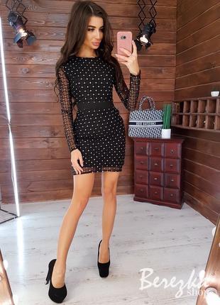 Платье по фигуре с блестками