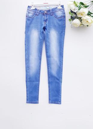 Светлые джинсы скинни повседневные штани джинсы зауженые