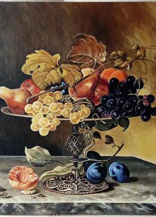 """Картина """"Натюрморт с фруктами"""" (холст. масло, 40х40 см)"""