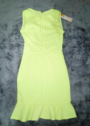 Лаймовое платье
