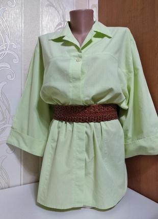 Блуза блузка рубашка натуральная большого размера, etam
