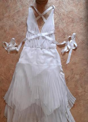 Дизайнерское платье плиссе для танцев, фотосессии, открытая сп...
