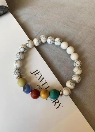 Женский браслет из натуральных камней, говлит