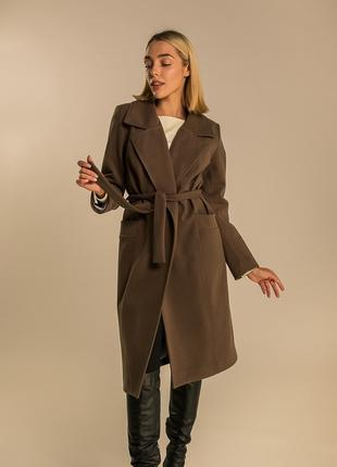 Стильное женское пальто S M L