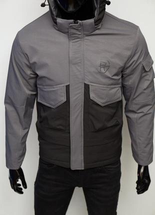 Куртка мужская демисезонная fr 9233 серая с черным