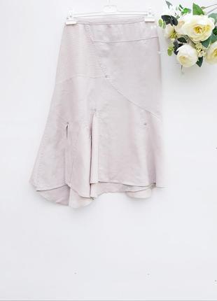 Льняная юбка миди юбка в стиле бохо 14-16рр