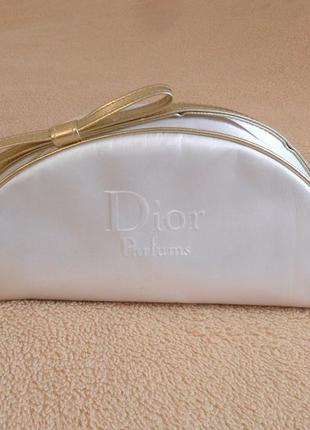 Белая косметичка dior parfums