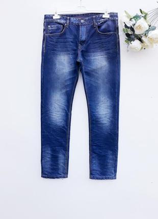 Крутые джинсы зауженые мужские штаны брюки мужские джинсы скин...