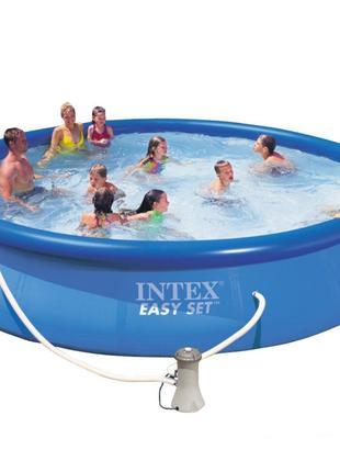 Надувной бассейн Intex. Семейный Easy Set - 457 х 84 см