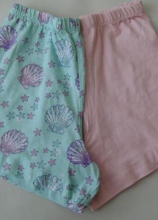 Набор 2 ед. пижама пижамные шорты 7-8 лет primark англия 128 см