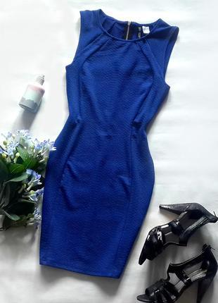 Короткое синее платье в обтяжку, милое короткое платье h&m