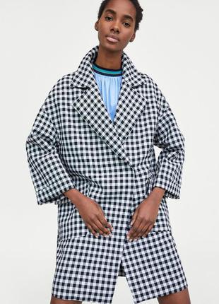Идеальное пальто в клетку zara