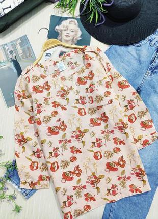 Классная, стильная, льняная рубашка