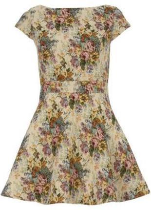 Габилен.,жаккард.,платье,сарафан,открытая спина,замочек,цветоч...
