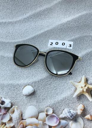 Стильные зеркальные солнцезащитные очки к. 2003