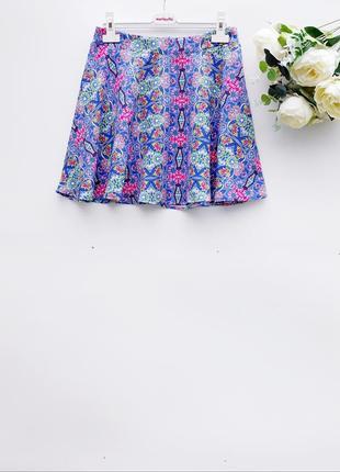 Легкая юбка летняя юбка разноцветная маленький размер