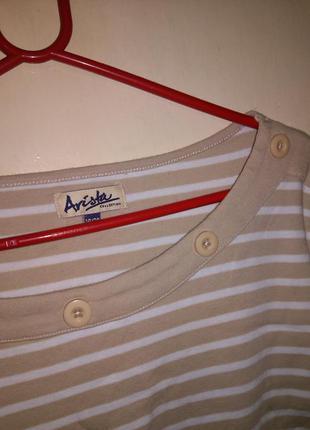 Натуральная,приятная,трикотажная блуза,футболка с пуговицами,б...