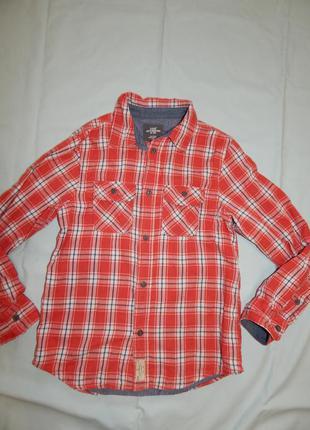 Рубашка модная в клетку на мальчика 11-12 лет 152см от l.o.g.g