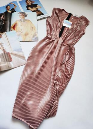 Нежное плисированное платье от missguided распродажа акция