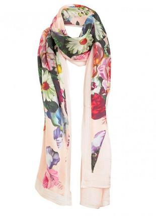 Шарф шарфик палантин платок шаль, шелковый, натуральный шёлк ш...