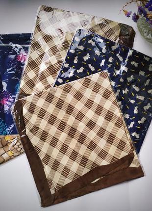 Шарфик платок под шёлк на выбор оригинальные базовые