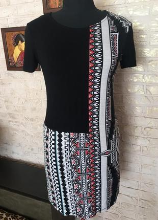 Натуральное платье с принтом