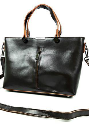Большая кожаная сумка коричневая формата а4, galanty