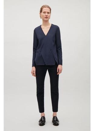 Трикотажная блуза с длинным рукавом cos