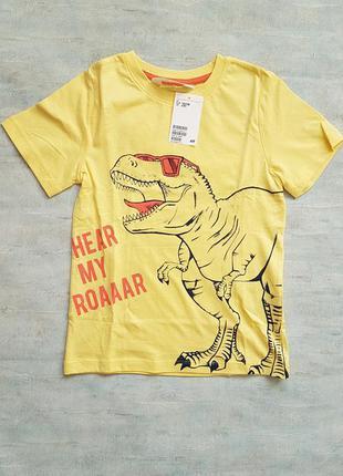Стильная футболка h&m с динозавром