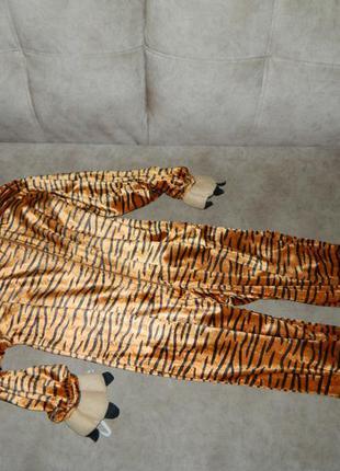 Костюм детский карнавальный тигр с маской на ребенка 5-6 лет