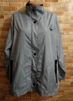 Легкая ветровка на молнии с карманами 18-20/54-56 размера