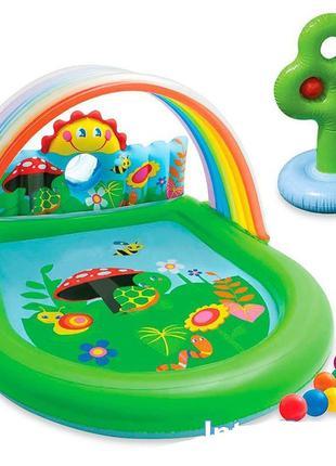 Детский надувной бассейн басейн центр Intex Оазис
