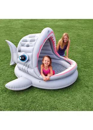 Детский надувной бассейн Intex акула