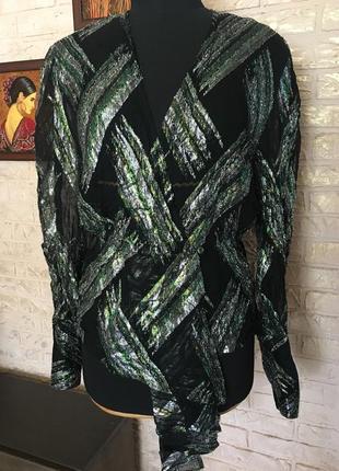 Шифоновая блуза с металлическими нитками