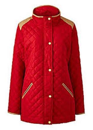 Болоньевая стеганая куртка со вставками кожзама 14/48-50 размера